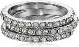 """GUESS Basic"""" Jet and Crystal Elongated Ring, Size 8"""
