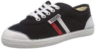 Kawasaki Unisex Adults' Rainbow Retro Basic Low-Top Sneakers, Black Red Stripes/White Sole), 3.5 UK 36 EU