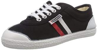 Kawasaki Unisex Adults' Rainbow Retro Basic Low-Top Sneakers, Black Red Stripes/White Sole), 38 EU