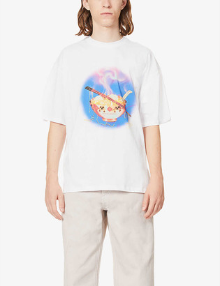 Opening Ceremony Noodle-print cotton-jersey T-shirt