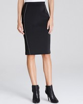 Elie Tahari Kim Reversible Scuba Pencil Skirt
