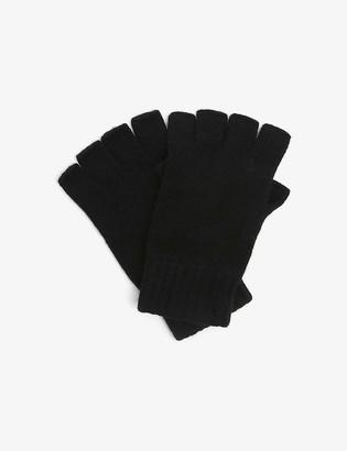 Johnstons Joe fingerless cashmere gloves
