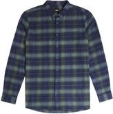Burton Mens Big & Tall Green and Navy Regular Fit Long Sleeve Checked Shirt