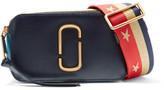 Marc Jacobs Snapshot Color-block Textured-leather Shoulder Bag - Navy