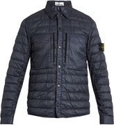 Stone Island Logo-patch quilted-down jacket