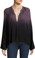 Young Fabulous and Broke Kimbra Ombre V-Neck Top, Black/Gray