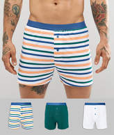 Asos Jersey Boxers With Stripes 3 Pack