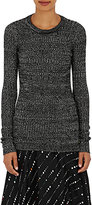 Isabel Marant Women's Dayton Linen-Blend Long-Sleeve Top-DARK GREY