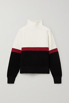 Nagnata - + Net Sustain Color-block Ribbed Organic Cotton Turtleneck Sweater - White