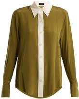 Joseph Garconne point-collar silk crepe de Chine shirt