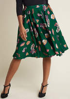Holiday Midi Skirt with Pockets in M - Full Skirt by ModCloth