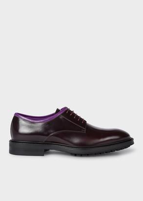 Men's Burgundy Leather 'Rutford' Derby Shoes