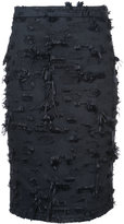 Kimora Lee Simmons fringed pencil skirt