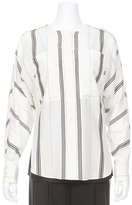 Tibi Drapey Button Sleeve Shirt