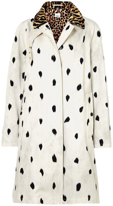 Burberry Animal-print Cotton-twill Trench Coat