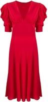 Ermanno Scervino V-neck scalloped lace silk dress