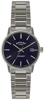 Rotary Gb02874/05 Avenger Stainless Steel Bracelet Strap Watch, Silver/navy