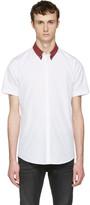 DSQUARED2 White Check Collar Shirt