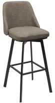 Bales Upholstered Curved Back Adjustable Height Swivel Bar Stool Winston Porter Color: Tan