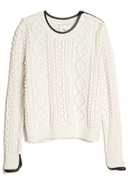 3.1 Phillip Lim Cropped Cable Knit Pullover