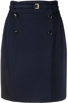 Alexander McQueen Belted-Waist Mini Skirt