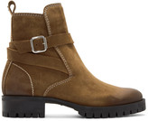 DSQUARED2 Brown Suede Buckle Boots