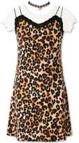Speechless Animal Print Short Sleeve Slip Dress - Girls' 7-16