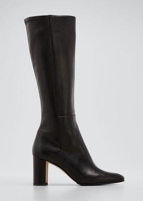 Manolo Blahnik Pampita Leather Knee Boot