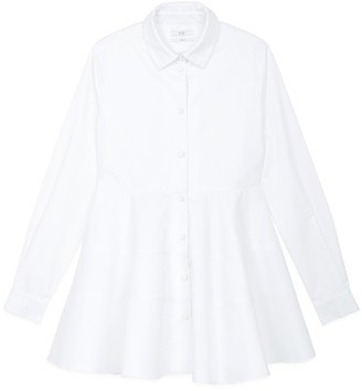 Co Tiered Buttondown Shirt in White