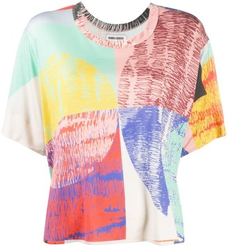 Henrik Vibskov Blurry Lights print loose fit T-shirt