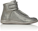 Maison Margiela Men's Future Leather High-Top Sneakers-SILVER