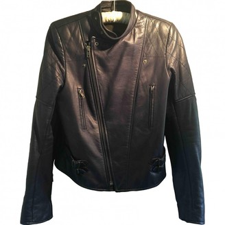 Joseph Navy Leather Jackets
