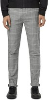 Topman Men's Plaid Stretch Skinny Fit Chinos