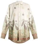 Ashish Oversized paisley-embroidered cotton shirt