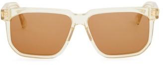 Bottega Veneta Square Acetate Sunglasses - Beige