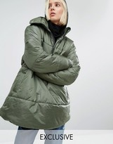 Puffa Oversized Over Head Half Zip Jacket