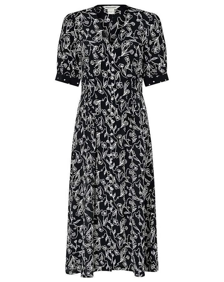 Monsoon Jean Print Dress