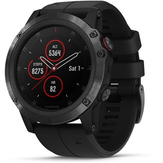 Garmin fenix 5X Plus Multi-Sport GPS Smartwatch (Sapphire Black with Black Band)