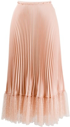 RED Valentino tulle hem pleated skirt