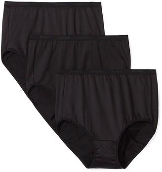 Arabella Women's Standard Microfiber Brief Panty 3 Pack