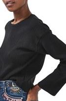 Topshop Women's Wide Sleeve Ribbed Crop Top