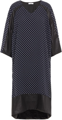 Clu Coated Polka-dot Georgette Dress