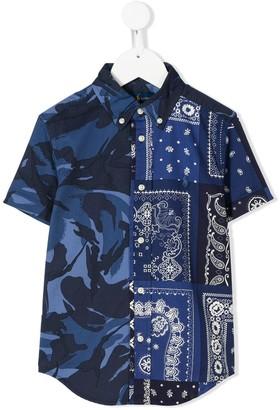 Ralph Lauren Kids patchwork paisley print shirt