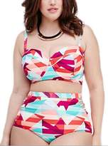 Cathery Fashion Women's Plus Size Padding Bikini Set Two Piece Bathing Suit Bra Bottom (XL, )