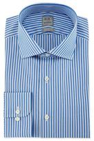 Ike Behar Bold Stripe Woven Dress Shirt, Blue