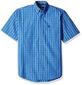 Wrangler Men's George Strait Two Pocket Short Sleeve Woven Shirt