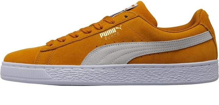sports shoes 50c89 70e39 Mens Suede Classic Trainers Buckthorn Brown White White