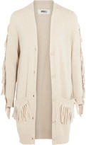 MM6 MAISON MARGIELA Fringed Knitted Cardigan