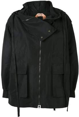 No.21 Oversized Hooded Jacket