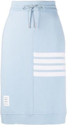 Thom Browne 4-Bar motif drawstring skirt